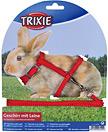 Trixie Szelki ze smyczą dla królika lub świnki morskiej 25–44 cm/8 mm