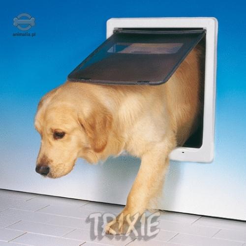 Trixie pet mate drzwiczki dla psa du e pm216 bia e dwufunkcyjne - Puerta vaiven para perros ...